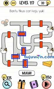 Level 117 Bantu tikus cari keju yuk! brain test