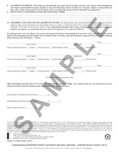 Document provided by California Association of Realtors
