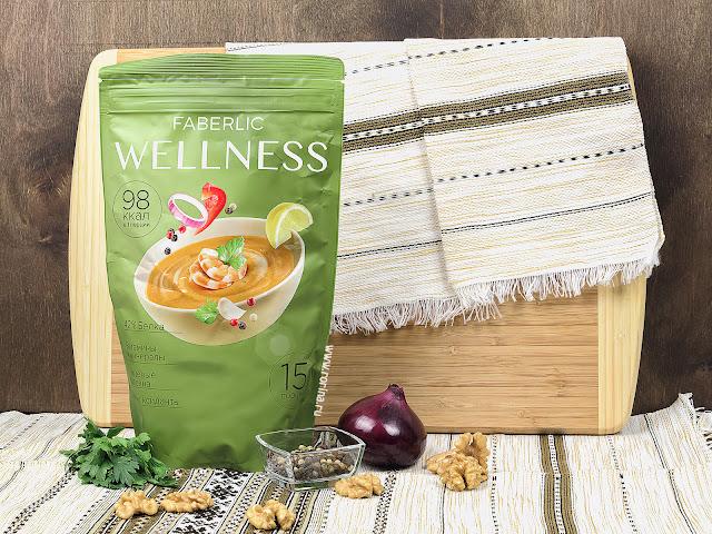 Сухой белковый суп Faberlic Wellness со вкусом «Средиземноморский с креветками» (Артикул: 15745) отзывы с фото