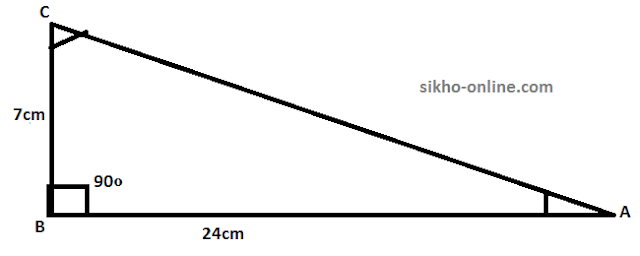 calculatate trigonometry questio example