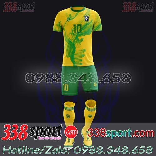 Áo Đội Tuyển Brazil Đặt May Theo Yêu Cầu - Mã BRAZIL 02
