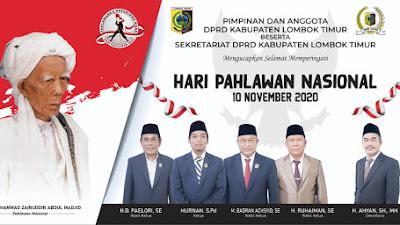 DPRD Lotim Ucapkan Selamat Hari Pahlawan Nasional 10 November 2020