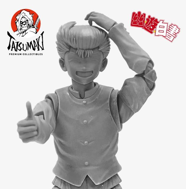 Tatsumaki muestra una nueva imagen de su articulado de Yusuke Urameshi.