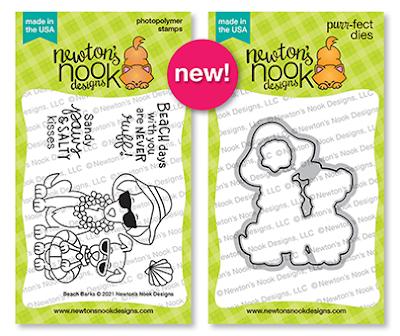Beach Barks Stamp & Die Set by Newton's Nook Designs