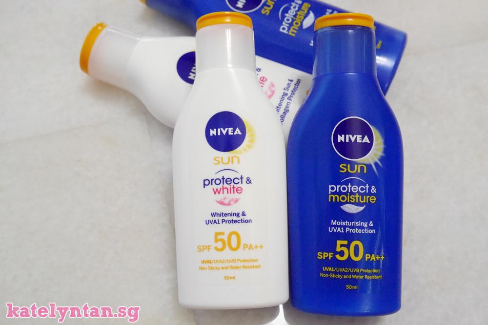 nivea sun protect and white