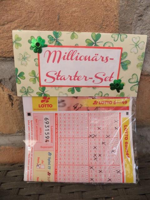 Lottoschein als geschenk