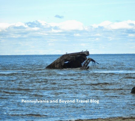 Sunken Concrete Ship in Cape May New Jersey
