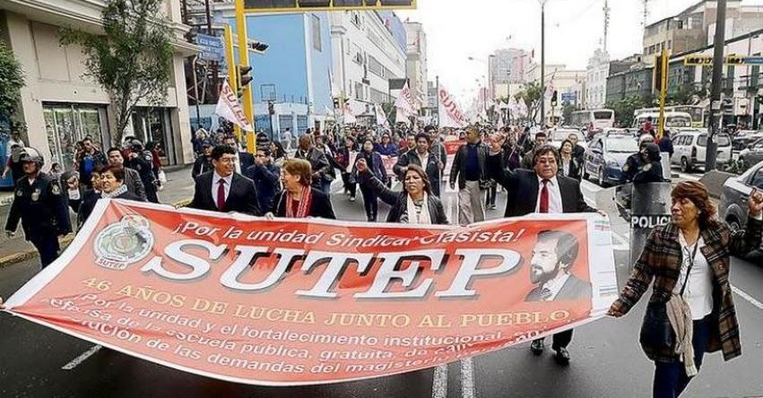 SUTEP exige al Congreso no usar interpelación para presionar al MINEDU