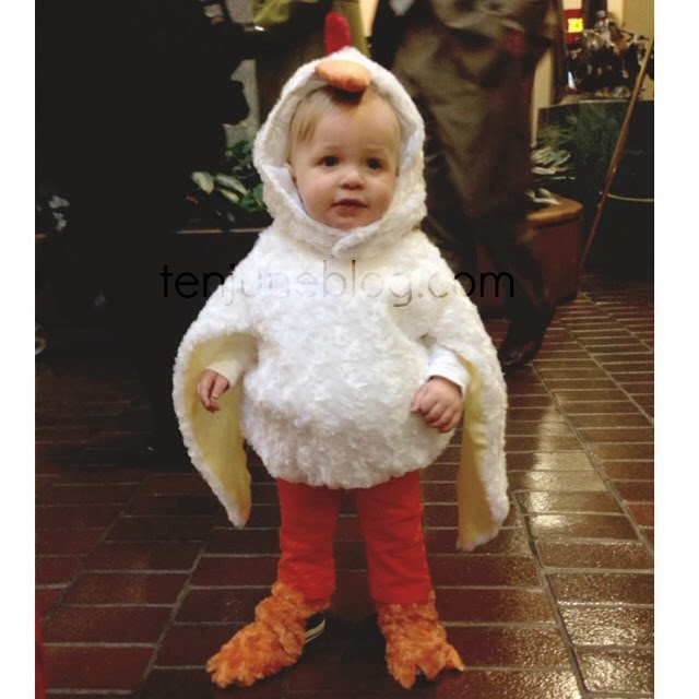 Happy Halloween from our favorite little chicken! Although he already debuted his costume at his schoolu0027s costume parade last week weu0027re excited to help ...  sc 1 st  Ten June & Ten June: Whyu0027d The Chicken Cross the Road? To Trick-or-Treat Of ...