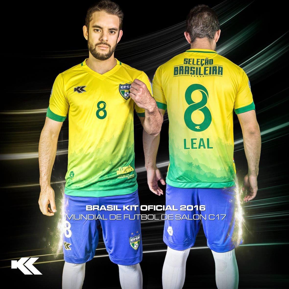 328faa8f35 Kyrios Sport lança novas camisas da Seleção Brasileira de futsal ...