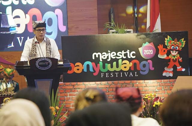 Peluncuran agenda wisata Banyuwangi Festival 2020 di Jakarta oleh Menparekraf Wishnutama Kusubandio
