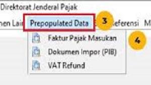 Cara Menggunakan Menu Prepopulated Data e-Faktur