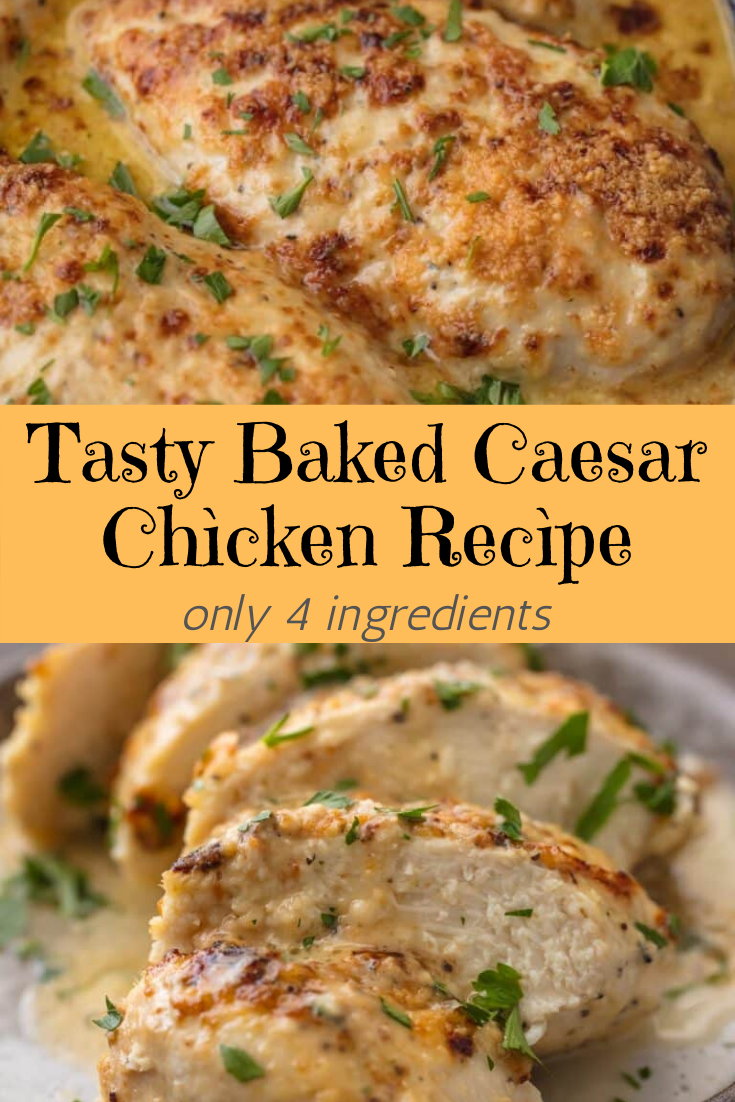 Tasty Baked Caesar Chìcken Recìpe