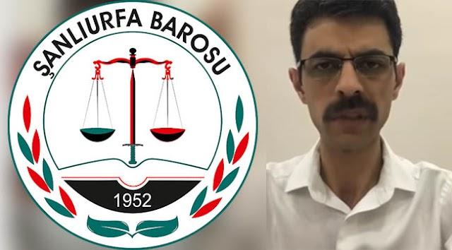 Şanlıurfa Barosundan Cumhuriyet Savcısı Akbulut'a destek