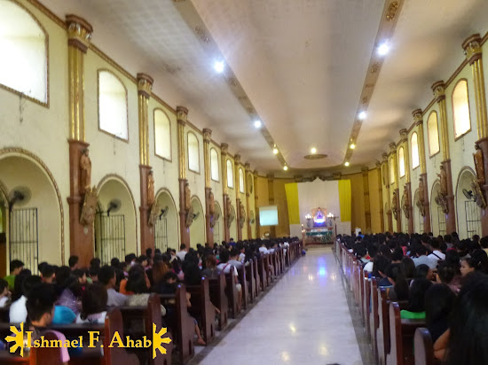 Inside Our Lady of the Most Holy Rosary, Queen of Caracol Church in Rosario, Cavite