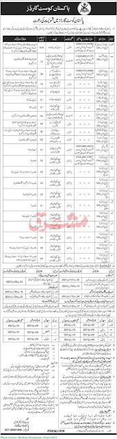 Pakistan Coast Guards Jobs 2021 Latest January 2021 780+ Posts