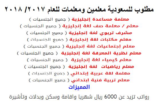 فورا لمدارس الملك فيصل بالسعودية معلمين ومعلمات لمختلف التخصصات برواتب تصل 6000 ريال - التقديم على الانترنت