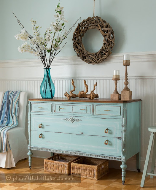 ocean breeze painted dresser