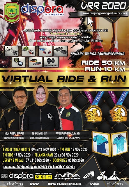 Pendaftaran Virtual Ride and Run 2020 Tanjungpinang Dibuka Hari Ini