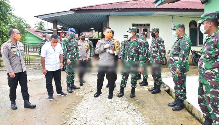 Kapolda Jambi Silaturahmi Ke Koramil Pauh, Dalam Rangka Untuk Tingkatkan Sinergitas TNI-Polri