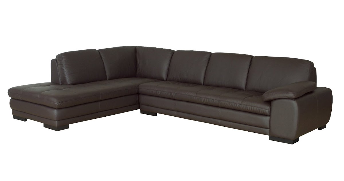 Buy chaise sofa leather sofa with chaise for Black leather sectional sofa with chaise