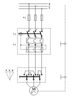 Membalik Putaran Motor 3 Fasa dengan Sakelar Pisau