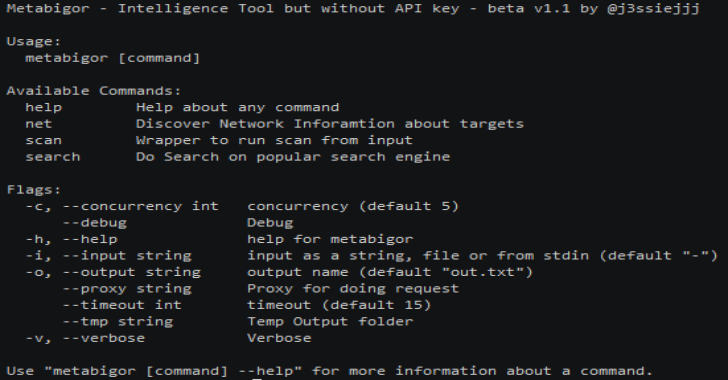 Metabigor : Intelligence Tool But Without API Key