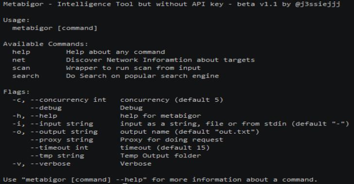 Metabigor : Intelligence Tool But Without API Key