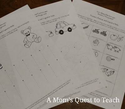 mathematics worksheets for a preschooler