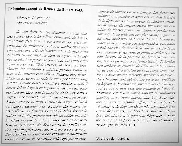 Témoignage de Xavier Ferrieu sur le bombardements de Rennes du 8 Mars 1944