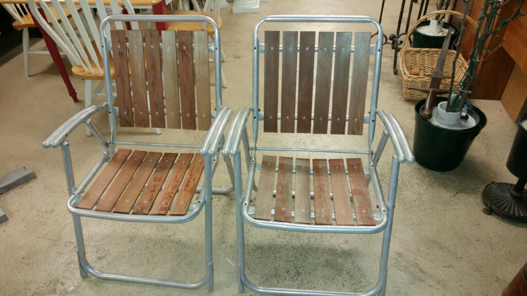 Renting Folding Chairs Long Chair Name Coastal Bohemian: Vintage Upcycle