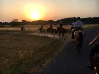 night ride in the riding holiday in france
