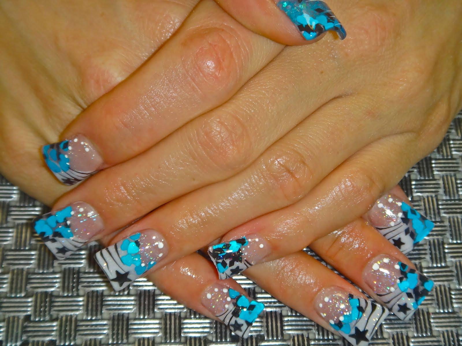Flared acrylic nails  Flared acrylic ...