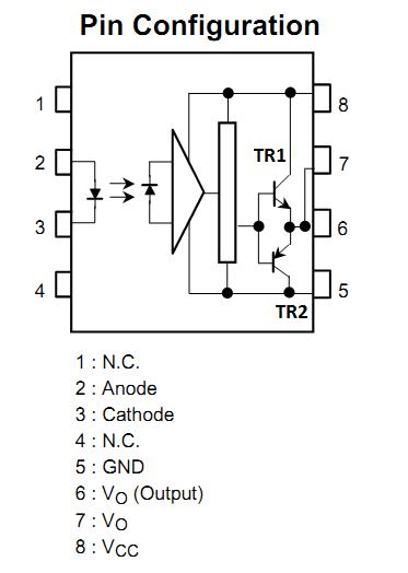 triac 8 channel opto isolator driver circuit schema