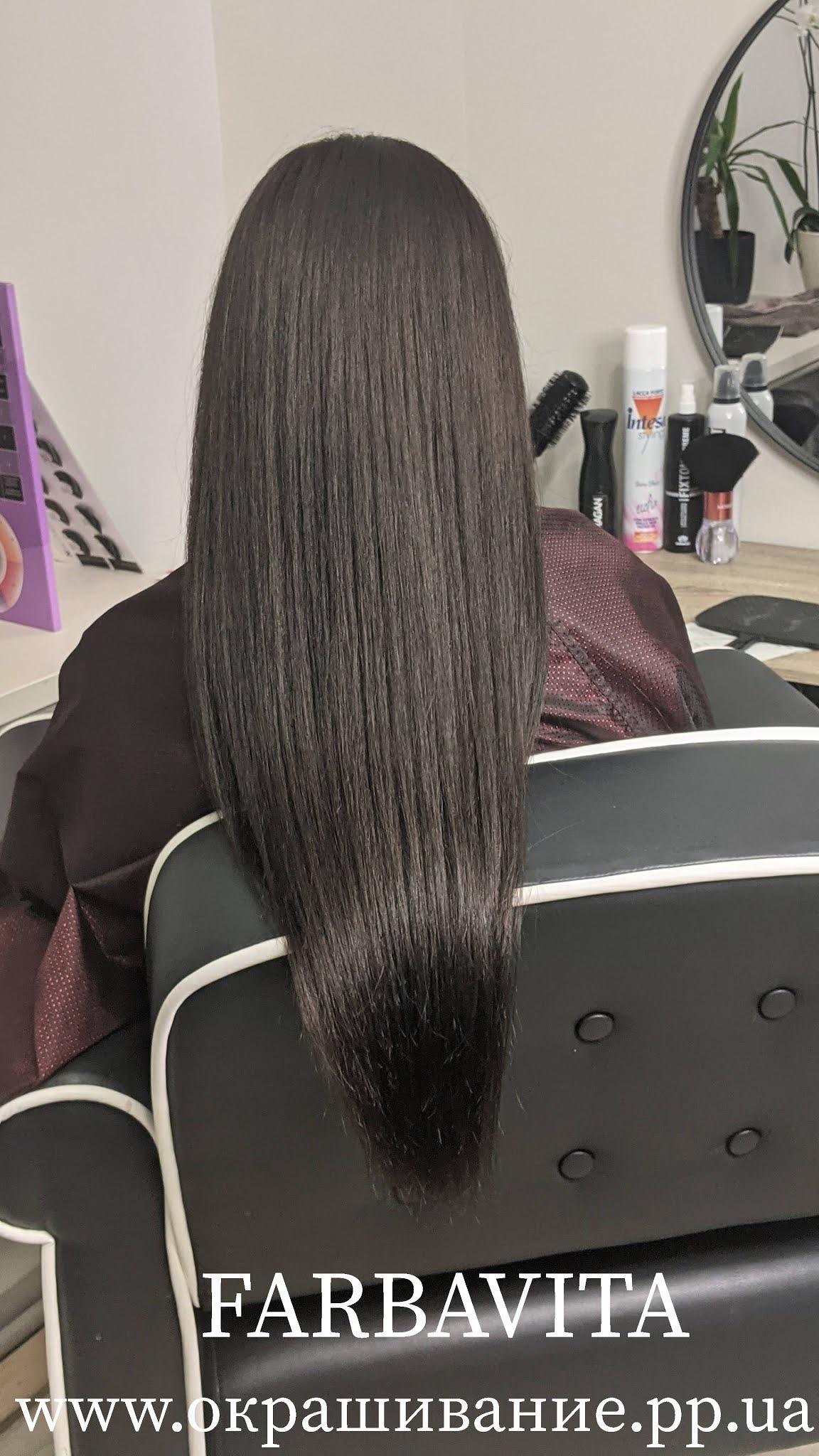 Окрашивание длинных волос в шоколадный цвет