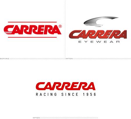 362f6b5ec7946 Em muitos modelos de óculos ainda é utilizado o tradicional logotipo do C,  batizado de Carrera Victory C (que pode ser visto no primeiro logotipo da  imagem ...