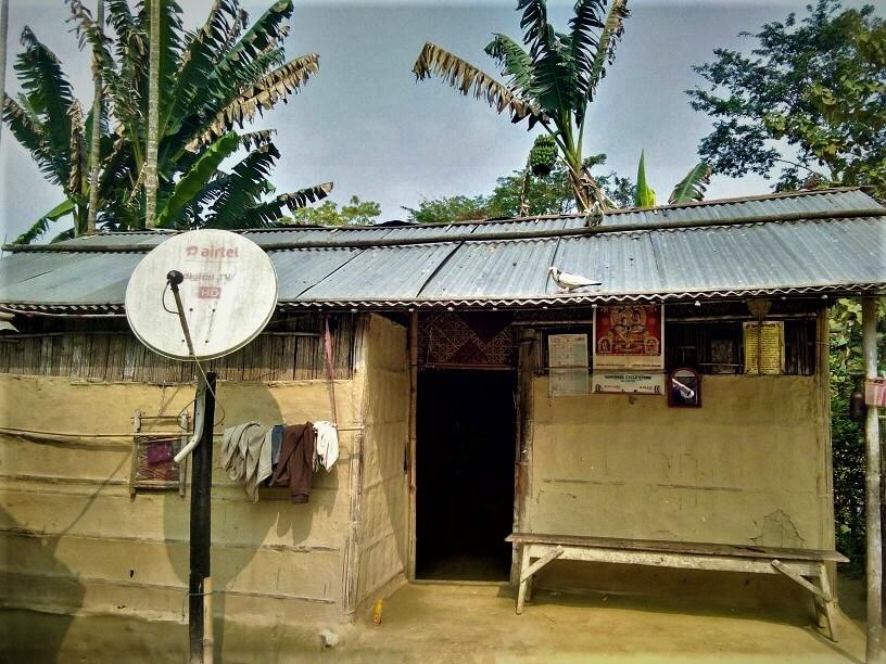 Assam village life, Assam village house
