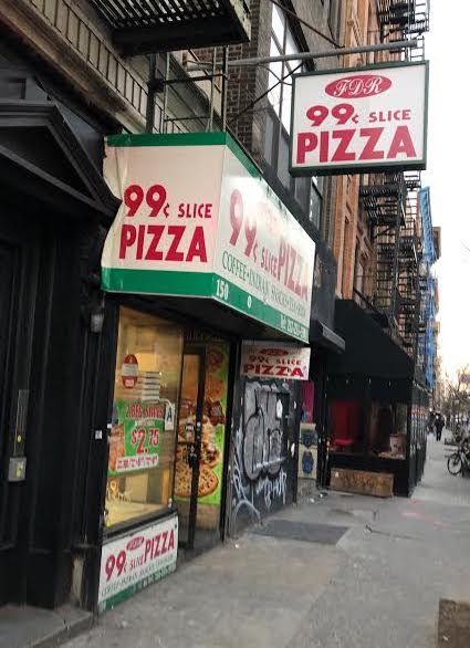 It Will Also Be Competition For The FDR 99 Cents Slice Pizza Outpost Around Corner On Second Street