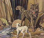 fabula el lobo harto y la oveja