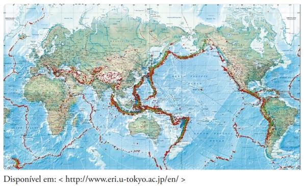 FDSBC 2020: Após a interpretação do mapa ao lado, assinale a alternativa que identifica o fenômeno destacado