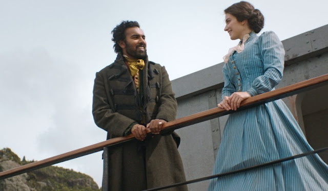 Himesh Patel and Ewe Hewson in 'The Luminaries'