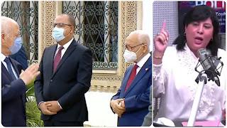 عبير موسي تستنكر ماجاء في بلاغ رئاسة الجمهورية  في علاقة بلقاء براشد الغنوشي