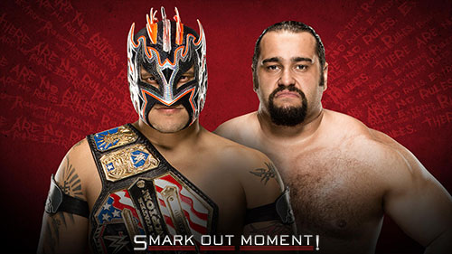 WWE Extreme Rules 2016 Kalisto vs Rusev US Title Match