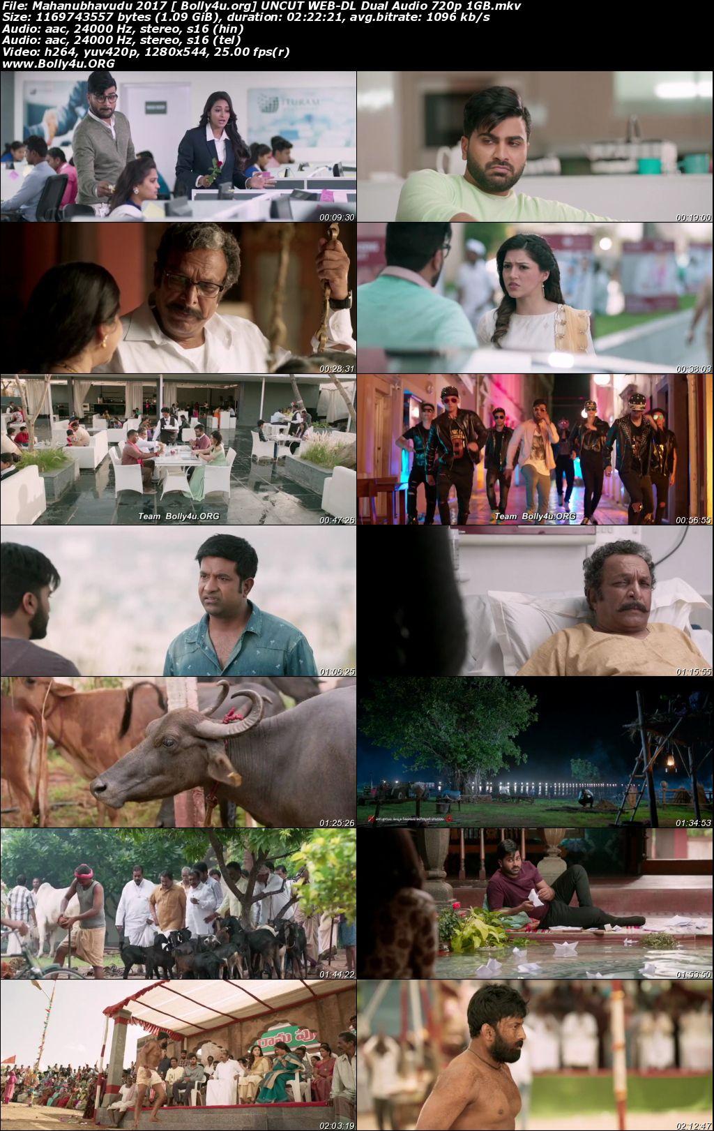 Mahanubhavudu 2017 WEB-DL 450MB UNCUT Hindi Dual Audio 480p Download