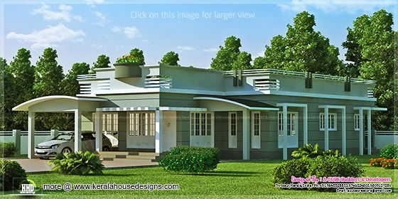 2073 sq-ft single floor villa