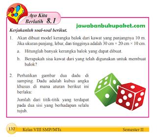 Jawaban Matematika Kelas 8 Ayo Kita Berlatih 8.1 Halaman 132 133 134 135 www.jawabanbukupaket.com