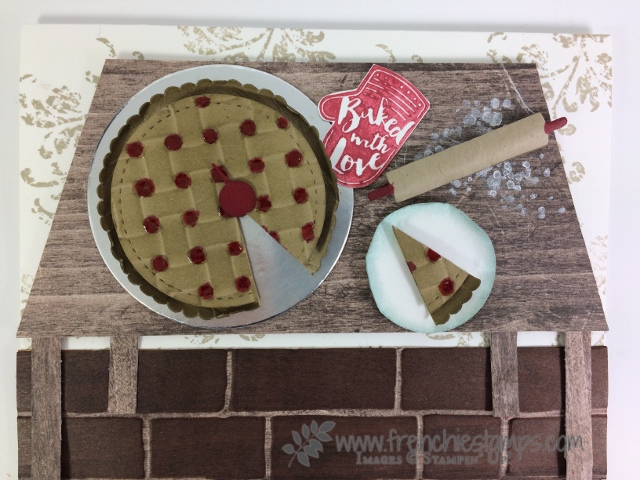 Basket Weave, Paper Cherry Pie, Apron Builder framelits, Stampin'Up!