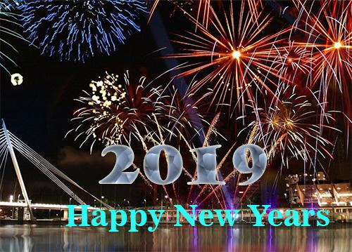 Kata-Kata Ucapan Tahun Baru 2019 Gambar Kartu Selamat Bergerak