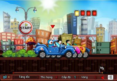 Chơi game Doremon đua ô tô thú vị