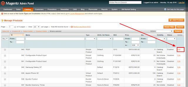 Tutorial Magento - Belajar CRUD atau Magament Data Pada Module Product Di Magento Commerce.